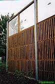 Combined noise protection walls made of wood/acrylic glass or aluminium/acrylic glass
